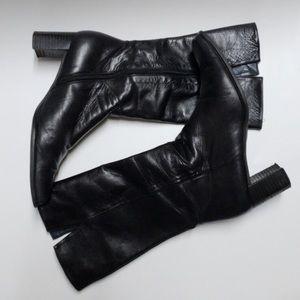 Stuart Weitzman square heeled boots